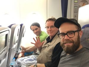 My brother, dad and I on our flight leaving Houston.