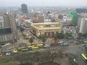 Downtown Nairobi, Kenya.
